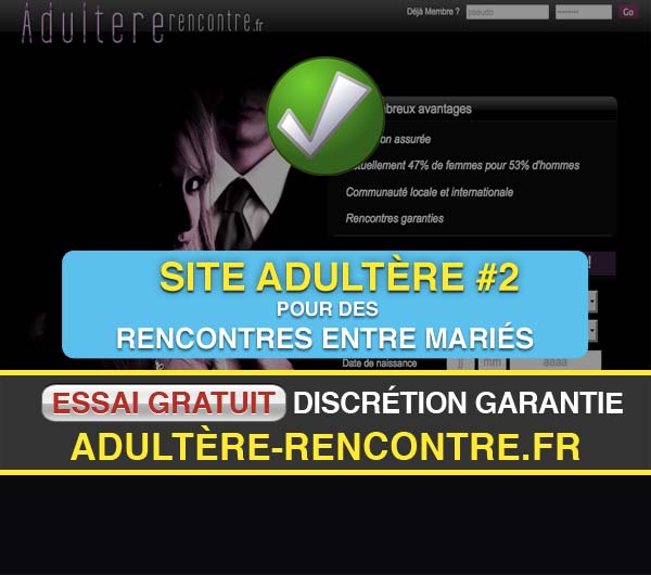 Capture d'écran du site Adultere-Rencontre.fr